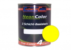 Tagesleuchtfarbe Neonlack Gelb Leuchtgelb Autolack (RAL1026) 1 Liter