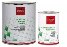 Car System 2K VOC Füller 540 weiß inkl. Härter standard 4,5 Liter