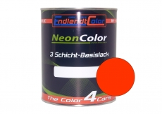 Tagesleuchtfarbe Neonlack Rot Leuchtrot Autolack (RAL3024) 1 Liter