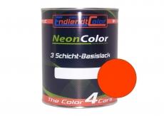 Tagesleuchtfarbe Neonlack Rotorange Leucht hellrot Autolack (RAL3026) 1 Liter