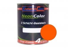 Tagesleuchtfarbe Neonlack Orange Leuchtorange Autolack (RAL2005) 1 Liter