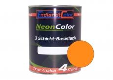 Tagesleuchtfarbe Neonlack Hellorange Leuchthellorange Autolack (RAL2007) 1 Liter