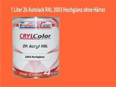 2K Autolack RAL 2003 Pastellorange 1 LTR Hochglanz