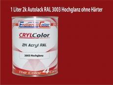 2K Autolack RAL 3003 Rubinrot 1 LTR Hochglanz