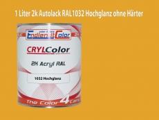 2K Autolack RAL 1032 Ginstergelb 1 LTR Hochglanz