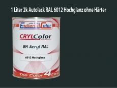 2K Autolack RAL 6012 Schwarzgrün 1 LTR Hochglanz