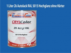 2K Autolack RAL 5015 Himmelblau 1 LTR Hochglanz