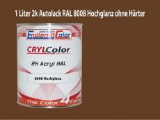 2K Autolack RAL 8008 Olivbraun 1 LTR Hochglanz