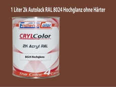 2K Autolack RAL 8024 Beigebraun 1 LTR Hochglanz