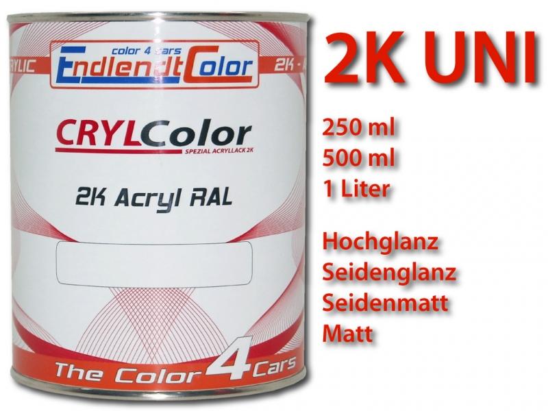 2K Autolack 1 Schicht RAL Farbton als 2K-UNI Lack