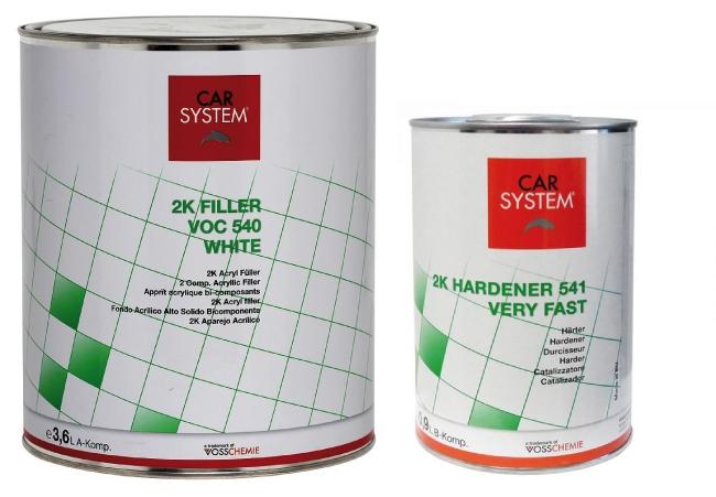 car system 2k voc f ller 540 wei inkl h rter very fast 4 5 liter autolacke chromlack. Black Bedroom Furniture Sets. Home Design Ideas