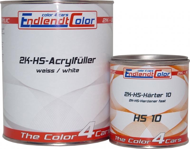 2K HS Acryl Füller 4:1 weiss inkl. Härter fast 1,65 Kg ~ 1,25 Liter SET