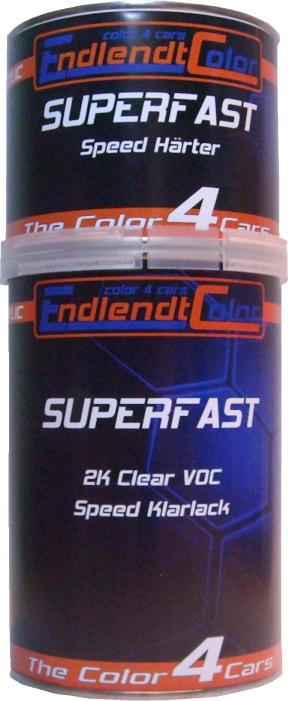 2K Clear VOC Speed Klarlack + Härter 1,5 Liter