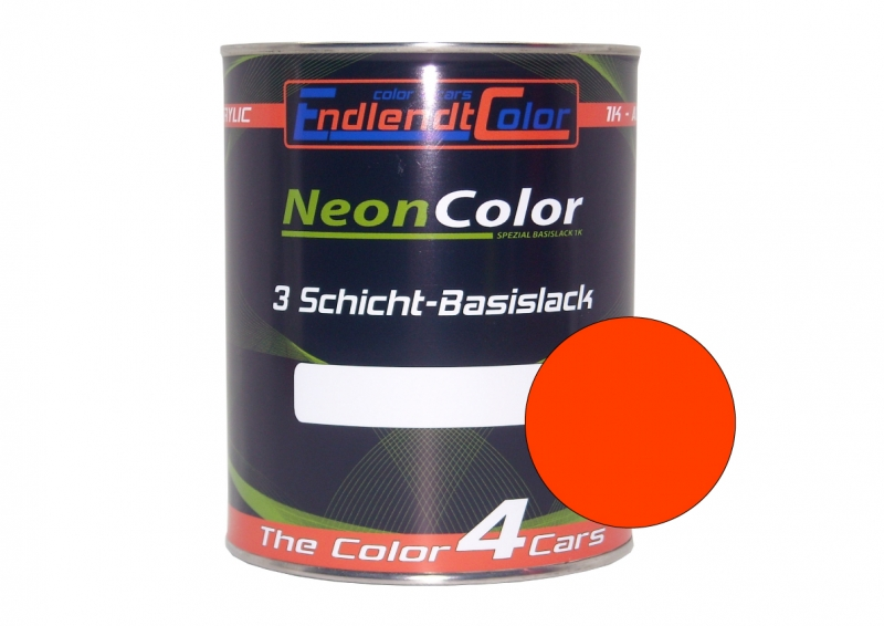 Tagesleuchtfarbe Neonlack Rotorange Leucht hellrot Autolack (RAL3026) 1 Liter