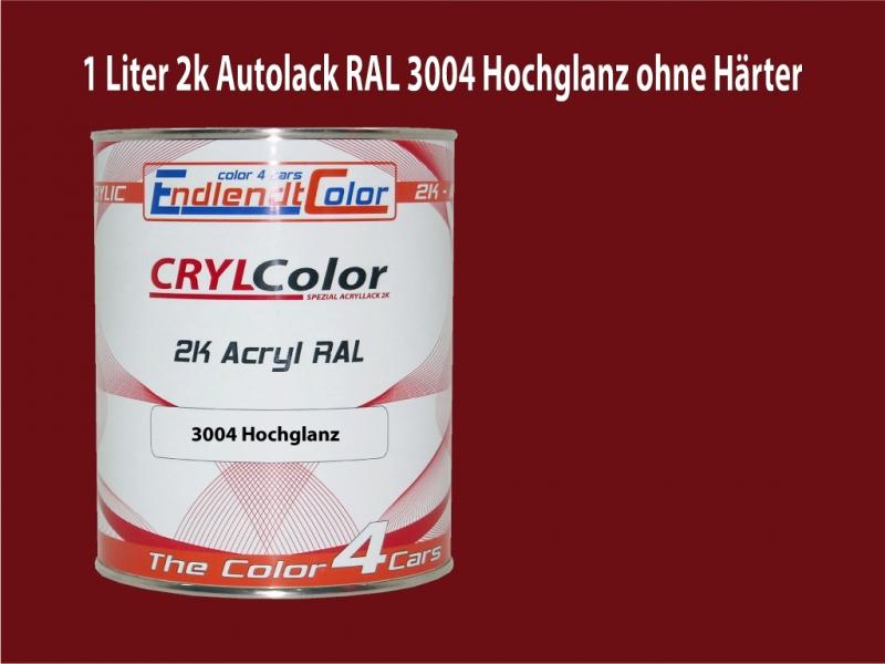 2K Autolack RAL 3004 Purpurrot 1 LTR Hochglanz
