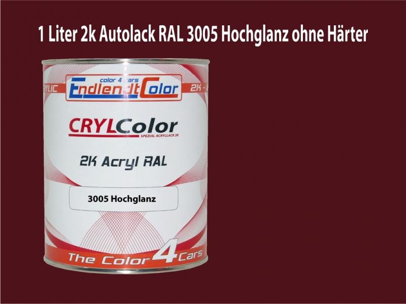2K Autolack RAL 3005 Weinrot 1 LTR Hochglanz
