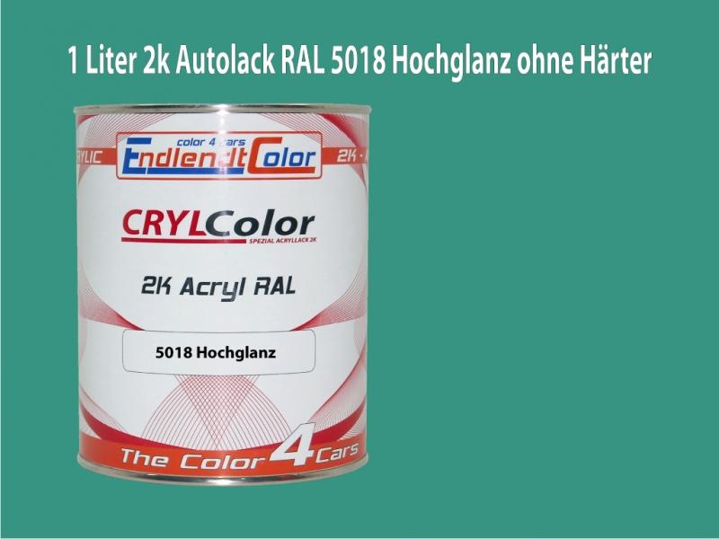 2K Autolack RAL 5018 Türkisblau 1 LTR Hochglanz