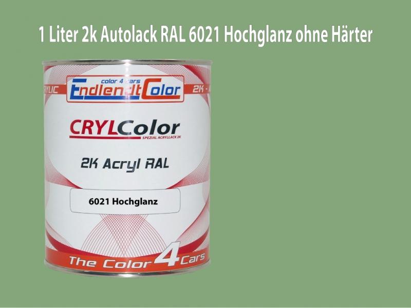 2K Autolack RAL 6021 Blaßgrün 1 LTR Hochglanz