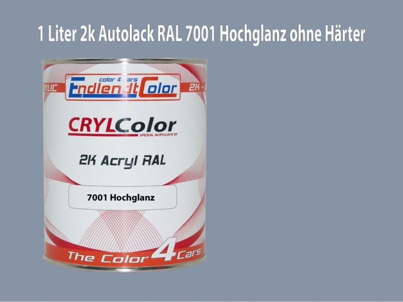 2K Autolack RAL 7001 Silbergrau 1 LTR Hochglanz