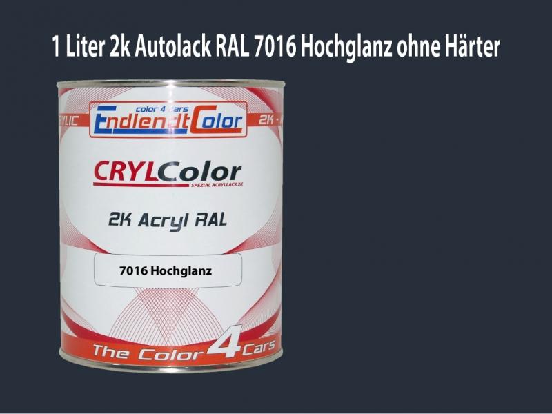 2K Autolack RAL 7016 Anthrazitgrau 1 LTR Hochglanz