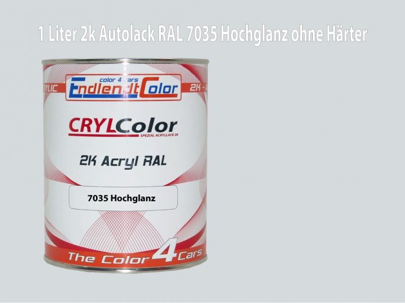 2K Autolack RAL 7035 Lichtgrau 1 LTR Hochglanz