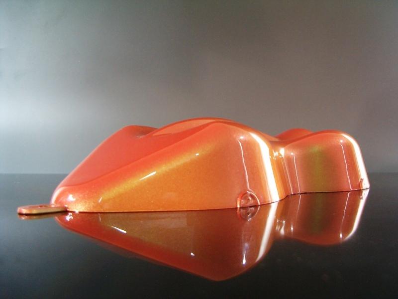 Flip Flop Lack Effektlack Green to Orange CarShape Muster