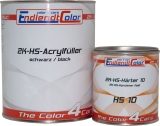2K HS Acryl Füller 4:1 schwarz inkl. Härter fast 1,65 Kg ~ 1,25 Liter SET