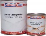 2K HS Acryl Füller 4:1 dunkelgrau inkl. Härter fast 1,65 Kg ~ 1,25 Liter SET