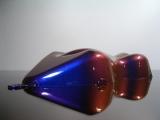 Flip Flop Lack Effektlack Blue / Red CarShap Muster