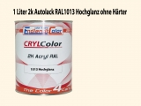 2K Autolack RAL 1013 Perlweiß 1 LTR Hochglanz