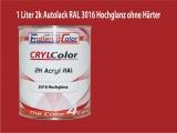 2K Autolack RAL 3016 Korallenrot 1 LTR Hochglanz