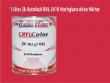 2K Autolack RAL 3018 Erdbeerrot 1 LTR Hochglanz