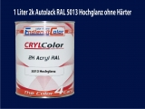 2K Autolack RAL 5013 Kobaltblau 1 LTR Hochglanz