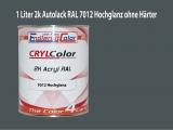 2K Autolack RAL 7012 Basaltgrau 1 LTR Hochglanz