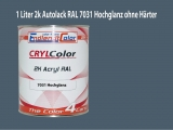 2K Autolack RAL 7031 Blaugrau 1 LTR Hochglanz