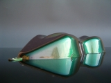 Flip Flop Lack Effektlack Silver / Green 1 Liter unverdünnt