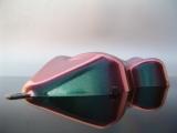 Flip Flop Lack Effektlack Multidimension Green CarShape Muster